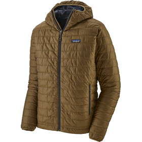 Patagonia Nano Puff Hoodie Men coriander brown/river delta multi/smolder blue